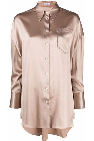 Brunello Cucinelli Camisa con botones de manga larga
