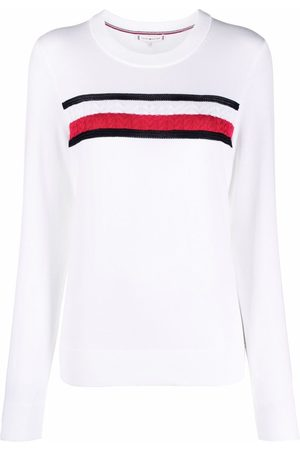 Tommy Hilfiger Mujer Jerséis y suéteres - Jersey a rayas con logo