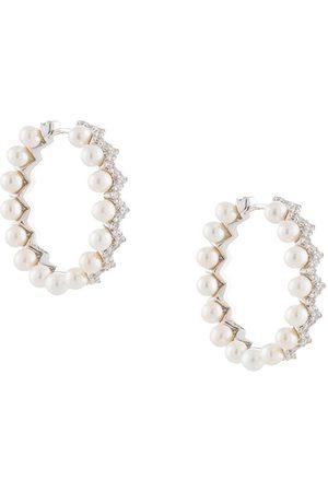 APM Monaco Aros con diseño en zigzag y perlas