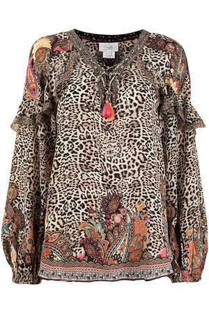 Camilla Blusa Wild Child con motivo de leopardo