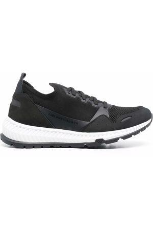 Emporio Armani Hombre Zapatillas deportivas - Zapatillas de dos tonos con cordones