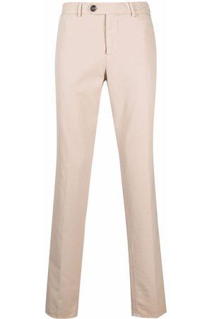 Brunello Cucinelli Hombre Pantalones chinos - Pantalones chinos slim de talle medio
