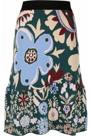 La DoubleJ Mujer Estampadas - Falda de punto con estampado floral