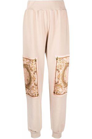 Philipp Plein Mujer Joggers - Pantalones joggers con motivo New Baroque