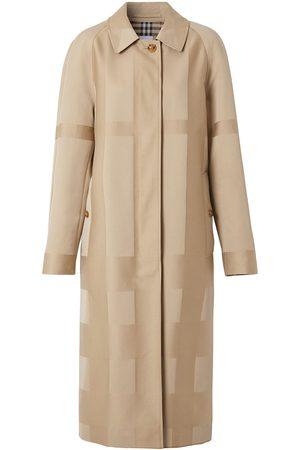 Burberry Check gabardine car coat