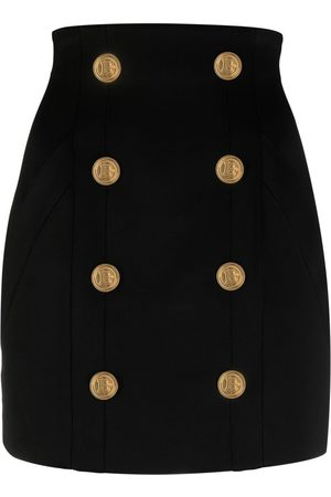 Balmain Mujer Minifaldas - Minifalda de cintura alta