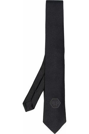 Philipp Plein Hombre Corbatas y corbatín - Hexagon logo-patch silk tie