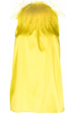 Styland Mujer Blusas - Feather-collar sleeveless blouse