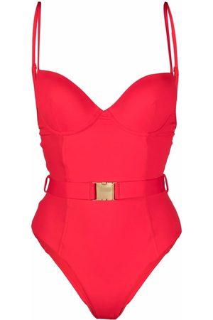 Noire Swimwear Mujer Bañadores - Bañador de aross y cinturón