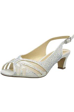 Lotus Glinda, Zapatos de tacón con Punta Abierta Mujer, (Ice Powder)