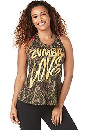 Zumba Fitness Mujer Tops halter - Top de Estampado de Moda Suelta de Entrenamiento para Mujer XX-Grande