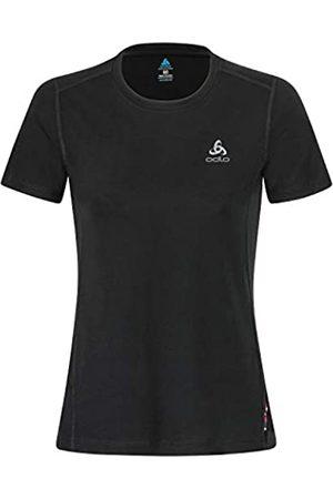 Odlo Mujer Camisetas de interior - B (ドロ) Mujer SUW Top Cuello Redondo s/s Natural 100% Merino Undershirt