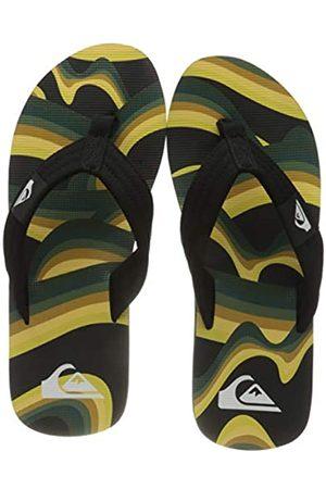 Quiksilver Molokai Layback, Flip-Flop Hombre, Black/Yellow/Green
