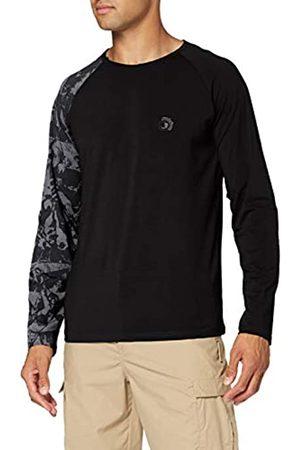 FERUO|#Ferrino Hombre Manga corta - Tatoo LS T-Shirt Man TG XL Black Camiseta, Hombre