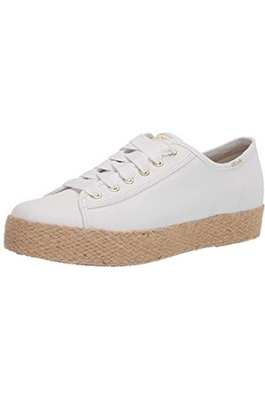Keds Triple Kick Jute Canvas Organic, Zapatillas Mujer, White