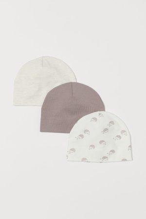 H&M Conjuntos de ropa - Pack 3 gorros de algodón