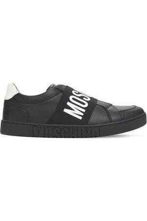 Moschino | Hombre Sneakers De Piel Con Logo /blanco 39