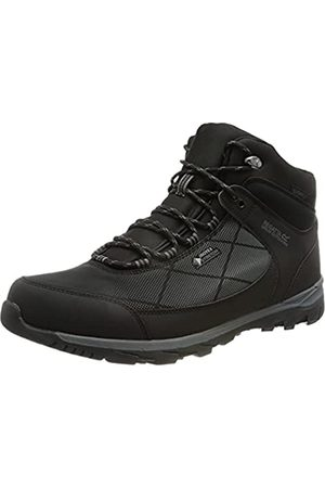 Regatta Highton Str Mid, Walking Shoe Hombre, Black/Ash