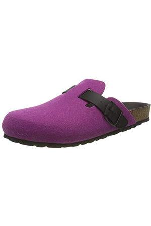 Bayton Moke Leather Sole/Fushia Mule, color
