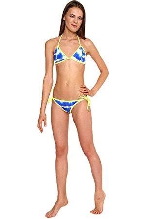 Glide Soul De la Mujer 305bt0110 – 01 X XS Bikini Tie Dye Tops, Blue Print/limón