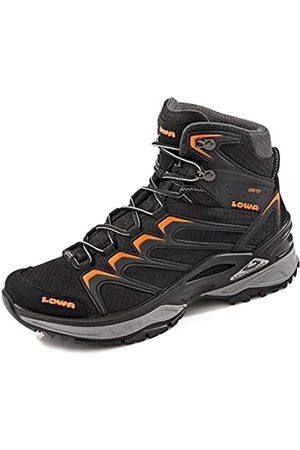 Lowa Innox GTX Mid, Zapatillas de Senderismo Hombre, (Black/Orange)