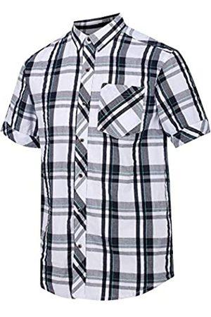 Regatta Deakin III - Camisa de Manga Corta de algodón con Botones para Hombre, Hombre, Camisa, RMS120