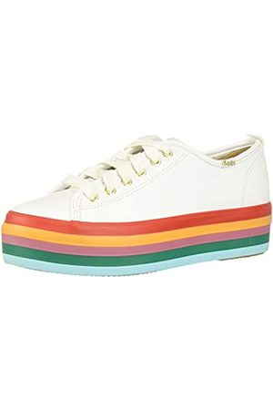 Keds Triple UP Rainbow Foxing, Zapatillas Mujer, White