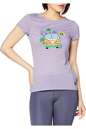 Supernatural Super.natural Camiseta de Manga Corta para Mujer, con Lana de Merino, W Printed tee, Mujer, Camiseta de Manga Corta Estampada, SNW013403M53M