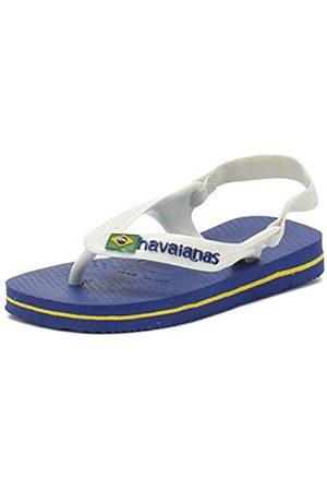 Havaianas Baby Brasil Logo II, Sandalias Unisex Niños, (Marine Blue)