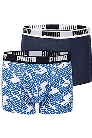PUMA – Calzoncillos de Hombre Diagonal Allover 2P, Primavera/Verano, Hombre, Color Weiss/Blau