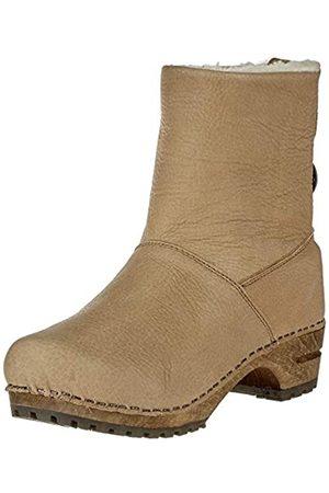 Sanita Wood Silkan Low Boot, Botas Plisadas Mujer, (Nature 14)