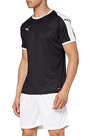 PUMA Liga Jersey T-Shirt, Hombre, Black White