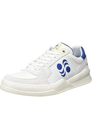 Pantofola d'Oro San Siro Uomo Low, Oxford Plano Hombre, Bianco/BLU