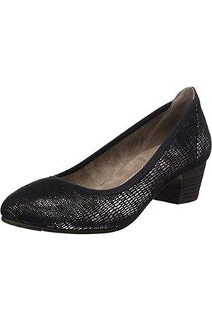 Soft Line 22361, Zapatos de Tacón Mujer, (Black Met Stru)