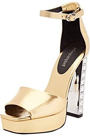 Jeffrey Campbell 1-Mika JH, Zapatos de tacón con Punta Abierta Mujer, (Metallic Gold 001)