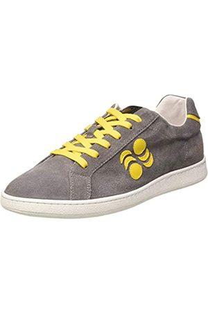 Pantofola d'Oro Suarez Low, Oxford Plano Hombre, Grigio/Giallo