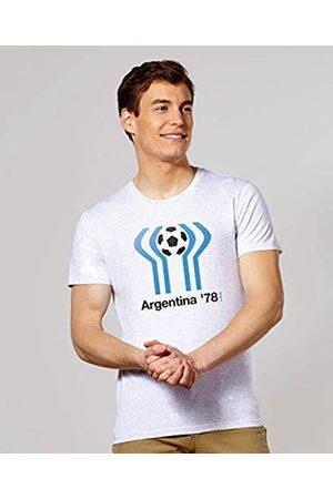 Monsieur Argentina 78 Camiseta, Hombre, Blanc Chiné