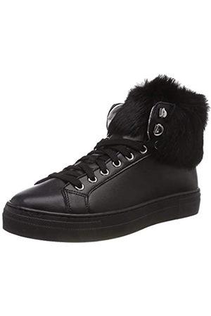 Pollini Pon Fur, Zapatillas Altas Mujer, Schwarz (Black/Steel 00a)