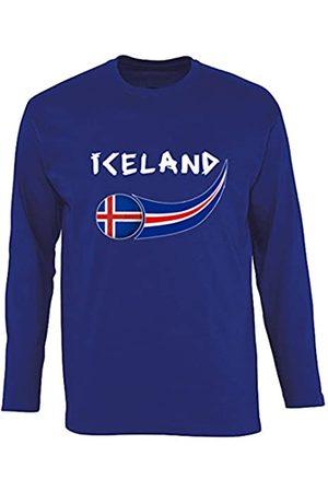 Supportershop T- Shirt Islandia L/S Hombre, Royal