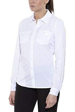 Marmot Wm's Annika Long Sleeve Camisa Outdoor Manga Larga, T-Shirt, Camisa de Senderismo, con protección UV, Transpirable, Mujer, White