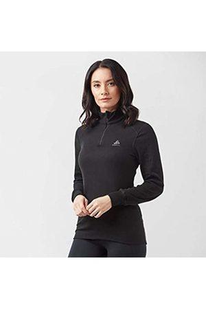 Odlo Bl Top Turtle Neck L/S Half Zip Active W Camiseta, Mujer, Black