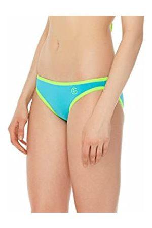 Glide Soul Mujer 0,5 mm Color Blocking Bikini Bottom – Bright Cian/Lemon