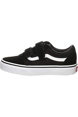 Vans Ward V-Velcro, Sneaker Unisex Niños, ((Suede/Canvas) Black/White Iju)