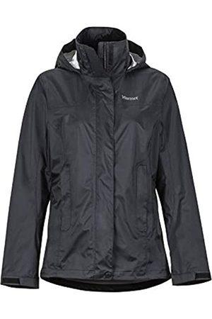 Marmot Wm's Precip Eco Jacket Chubasqueros, Chaqueta Impermeable, A Prueba De Viento, Impermeable, Transpirable, Mujer, Black