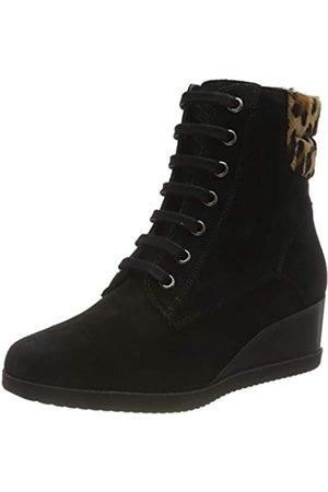 Geox D ANYLLA WEDGE E BLACK/DK SAND Women's Boots Classic size 40(EU)
