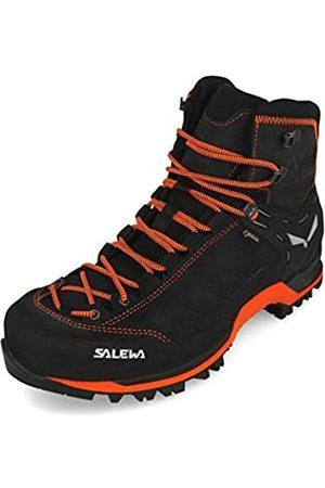 Salewa MS Mountain Trainer Mid Gore-TEX, Botas de Senderismo Hombre, Gris (Asphalt/Fluo Orange)