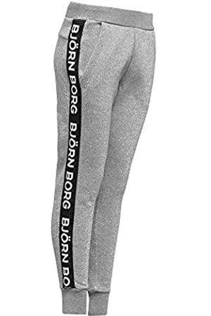 Björn Borg Logo Sport Trainingshose Damen-Hellgrau, Schwarz, XS Ropa de Abrigo, Mujer