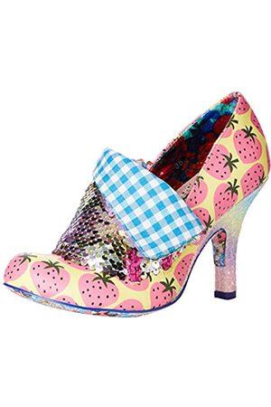 Irregular Choice Flick Flack, Zapatos de tacón con Punta Cerrada Mujer, (Yellow/Blue DR)