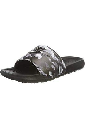 Nike Victori One Slide Print, Sandal Hombre, Black/Black-Grey Fog-Particle Grey-White