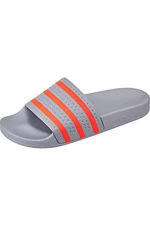 adidas Adilette, Slide Sandal Hombre, Halo Silver/Solar Red/Solar Red